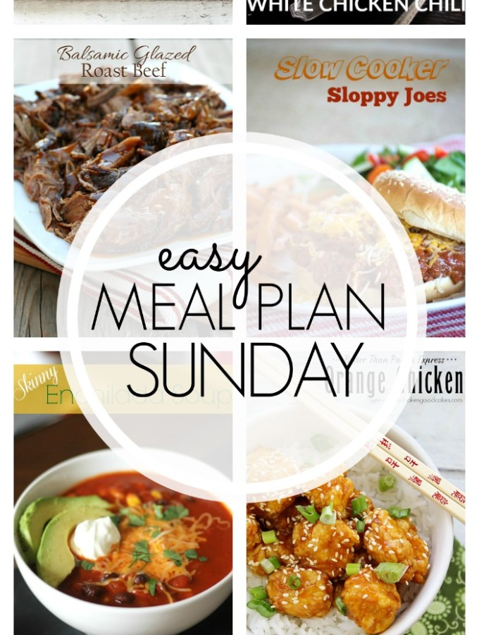 EASY MEAL PLAN – Week 70 - 7 delicious dinners and 2 desserts!