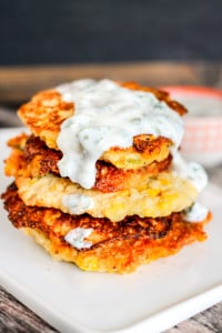Corn Fritter with Cilantro Lime Sauce-4