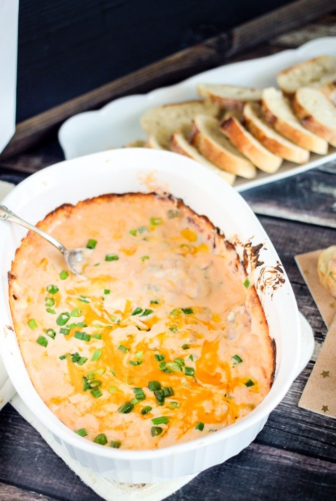 Easy Ham and Cheese Dip only takes 20 minutes to make and is the most delicious party appetizer!