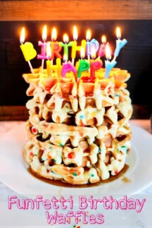 Funfetti Birthday Waffles are the perfect birthday breakfast!
