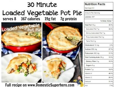 Pot Pie Nutrition