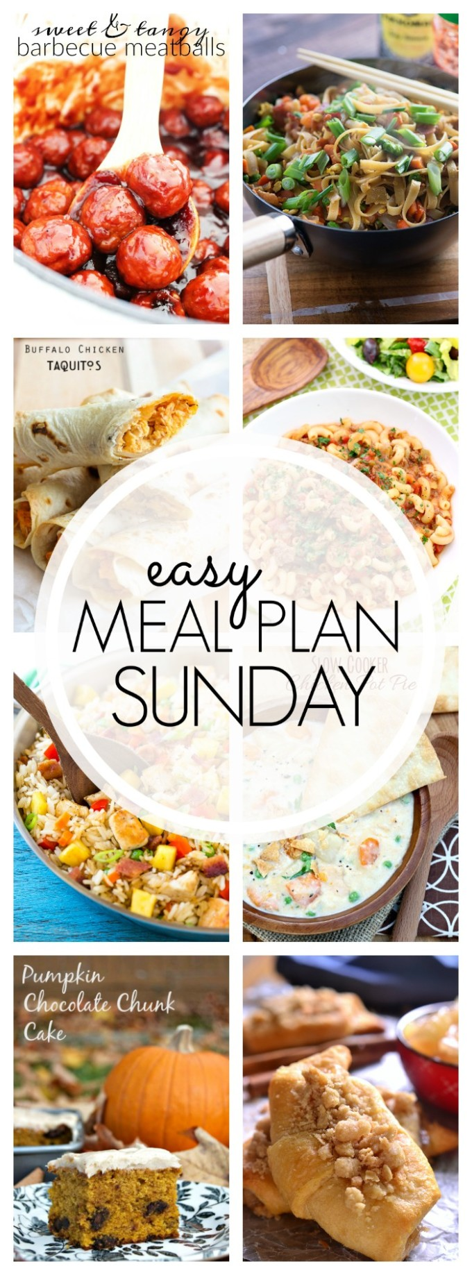 EASY MEAL PLAN – Week 73 - 7 delicious dinners and 2 desserts!