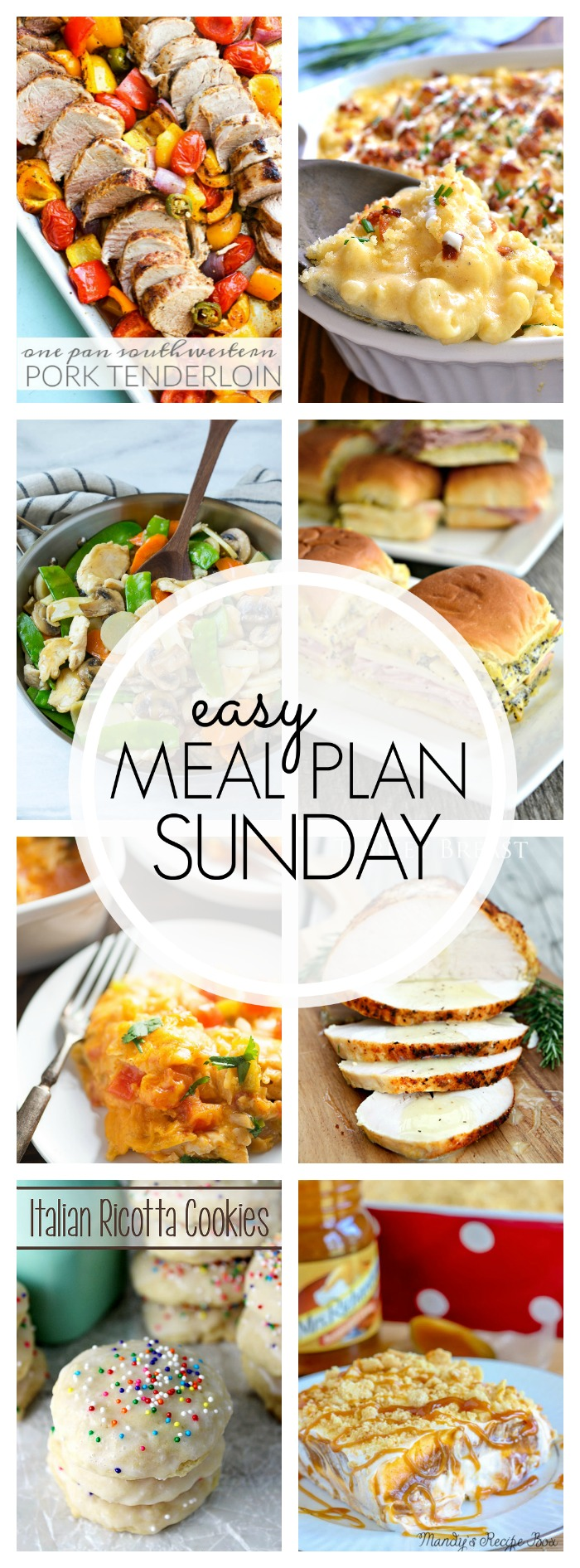 EASY MEAL PLAN – Week 74 - 7 delicious dinners and 2 desserts!