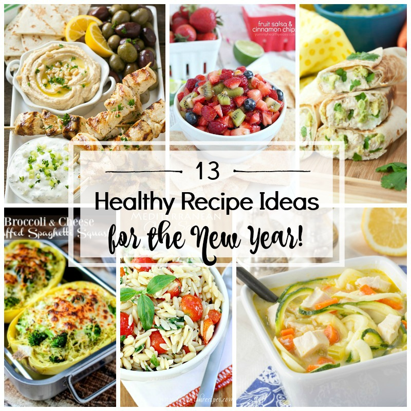 With the New Year right around the corner, make sure you have enough healthy recipes on hand so that your goals don't get bogged down! These 13 Healthy Recipe Ideas for the New year are sure to keep you on track!