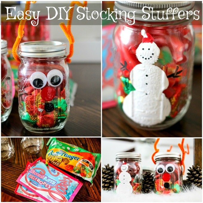 Easy DIY Stocking Stuffers are made with just a few simple items and stuffed with sweet treats for the holidays!