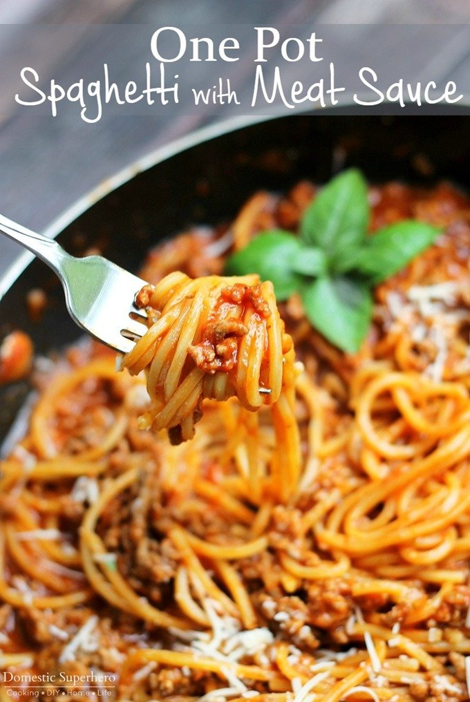 One Pot Spaghetti with Meat Sauce (5)