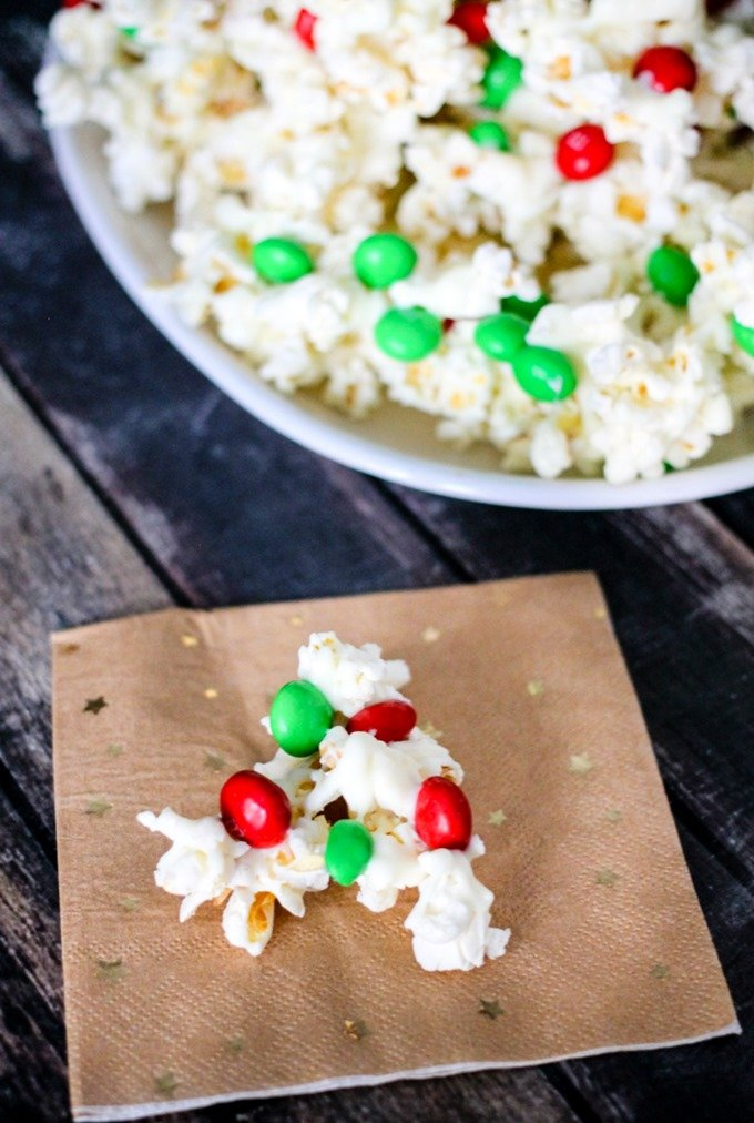 These White Chocolate Peanut Butter Kettle Corn Clusters are the perfect blend of sweet and salty – the perfect holiday treat!