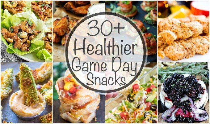 Over 30 Healthier Game Day Snacks so you don't sabotage yourself on Game Day! From appetizers to desserts, there is something for everyone