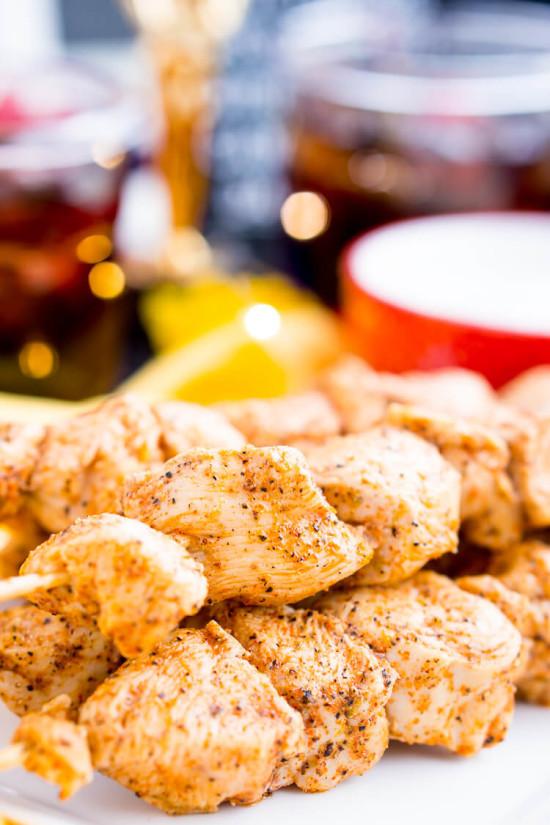 Baked Cajun Chicken Skewers
