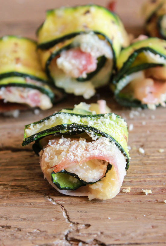 Bite Sized Grilled Zucchini Roll Ups