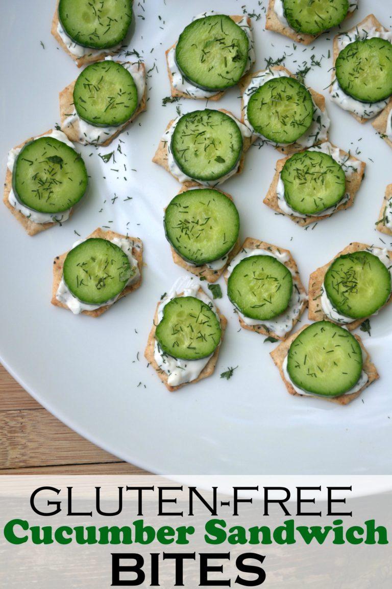Gluten Free Cucumber Sandwich Bites