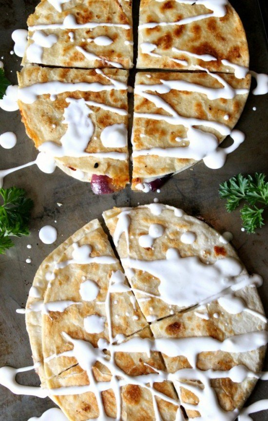 Smoked Gouda Veggie Quesadillas