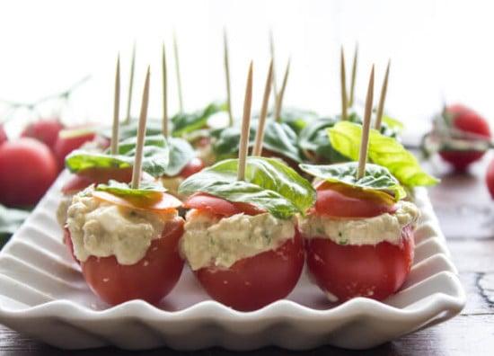 Tuna Mozzarella Stuffed Cherry Tomatoes