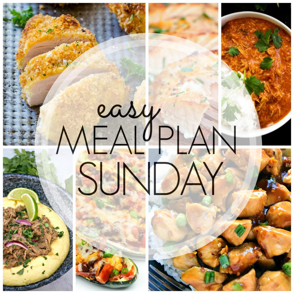 EASY MEAL PLAN – Week 80 - 7 delicious dinners and 2 desserts!