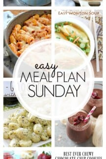 EASY MEAL PLAN – Week 86 - 7 delicious dinners and 2 desserts!