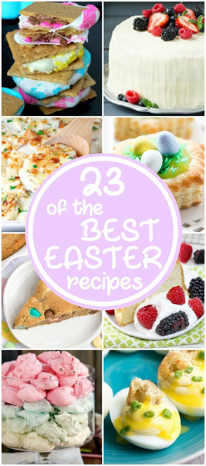 From brunch recipes to dessert, I have 23 of the BEST Easter Recipes for you! Definitely something that everyone will enjoy on Easter!