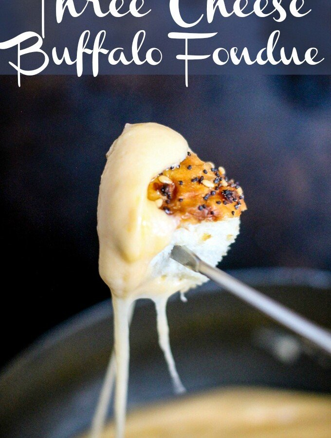 Three Cheese Buffalo Fondue