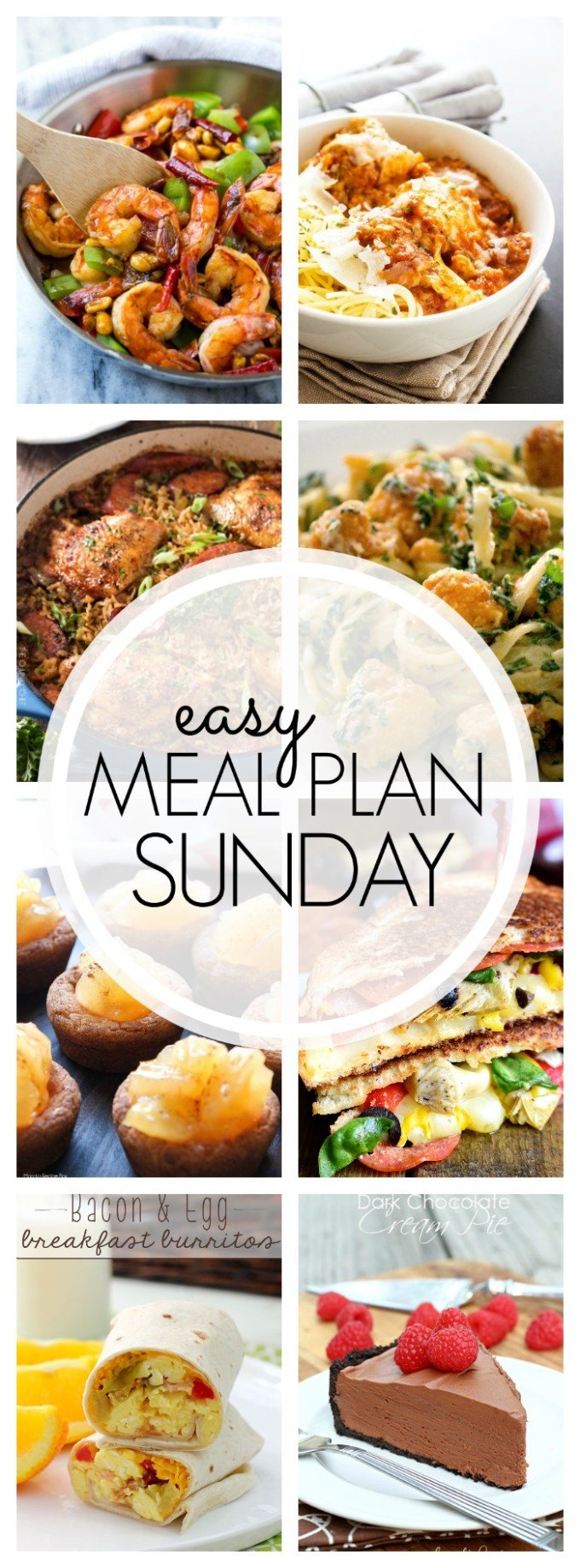 Easy Meal Plan week 88-  consists of 7 delicious dinners, 2 desserts, and a breakfast idea!!