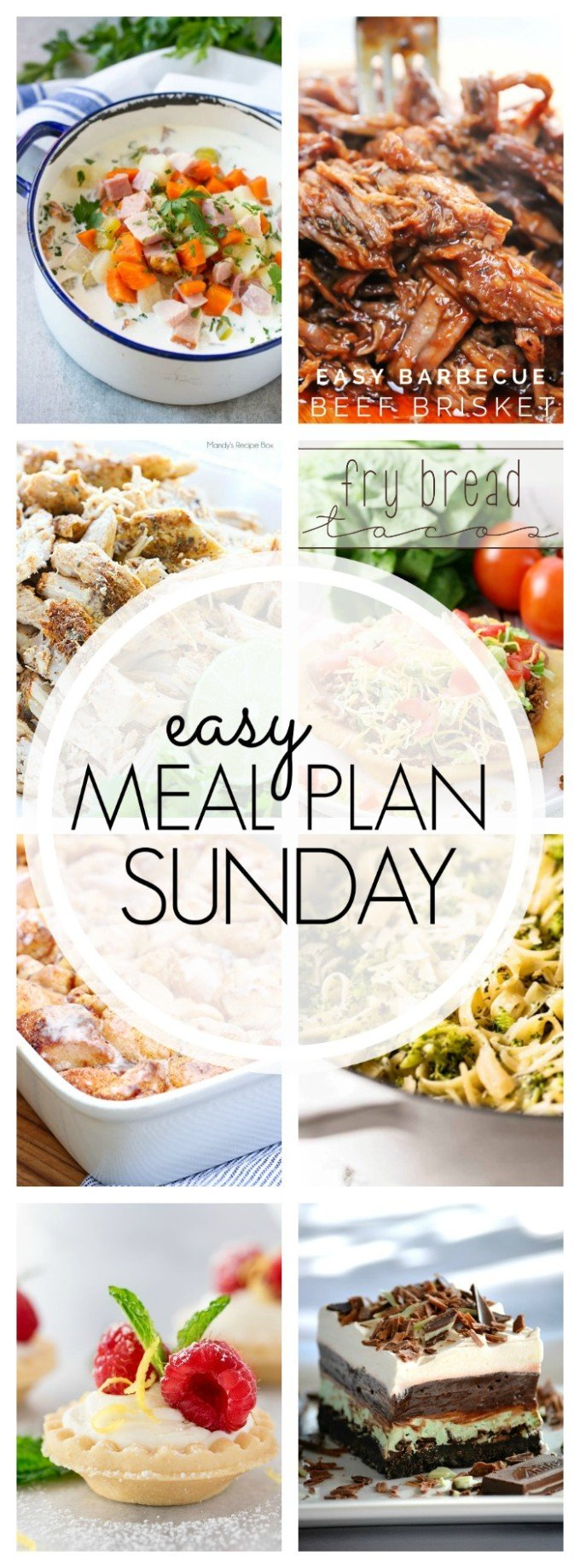 Easy Meal Plan week 89 - consists of 7 delicious dinners, 2 desserts, and a breakfast idea!!