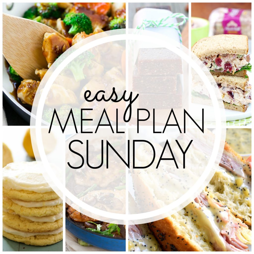 Easy Meal Plan week 91 - consists of 7 delicious dinners, 2 desserts, and a breakfast idea!!