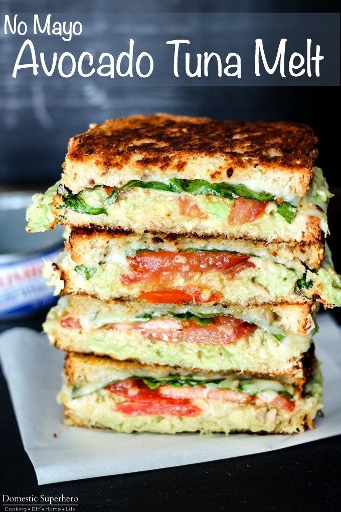 Avocado tuna melt p