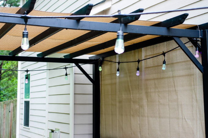With Enbrighten Seasons Color Changing Café Lights you can brighten and spruce up your outdoor space in a quick and Easy Patio Revamp!