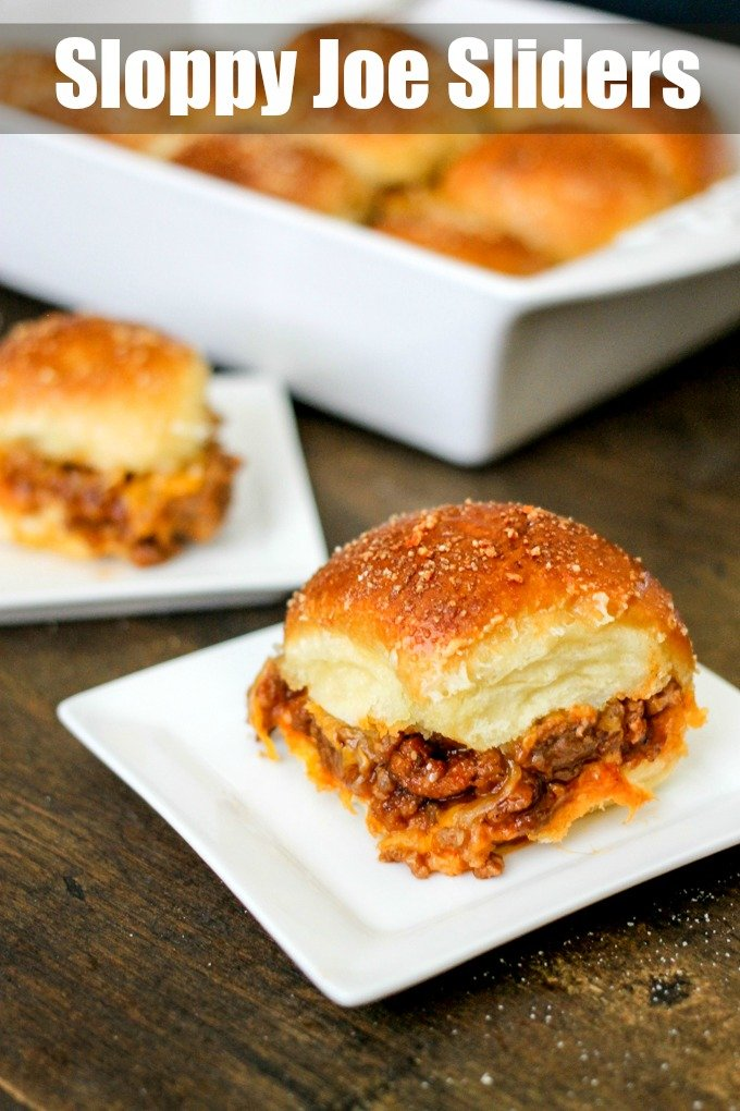 Sloppy Joe Sliders come together in 10 minutes and then are baked to perfection! They make the perfect party food or easy weeknight dinner!