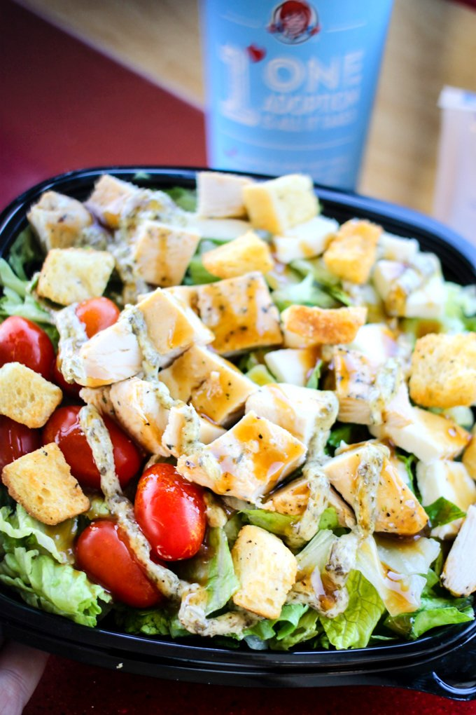 Wendy's Fresh Mozzarella Chicken Salad and Sandwich are made with fresh ingredients and are totally delicious! You have to try them today!