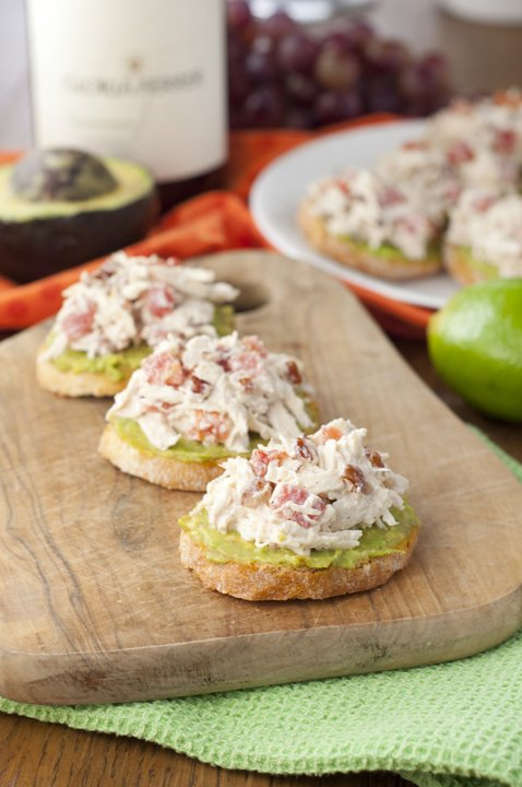 Avocado Chicken Salad Crostini - The Best Summer Salad Recipes!
