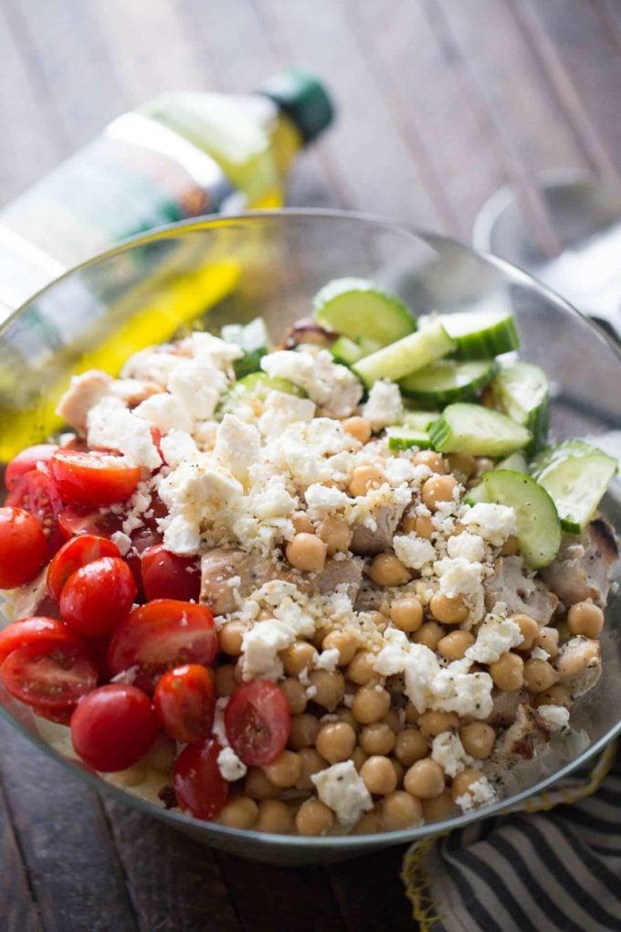 Chicken Souvlaki Pasta Salad - The Best Summer Salad Recipes!