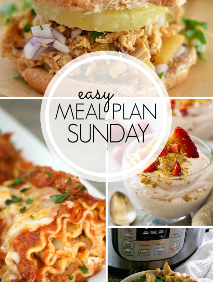 EASY MEAL PLAN – Week 101