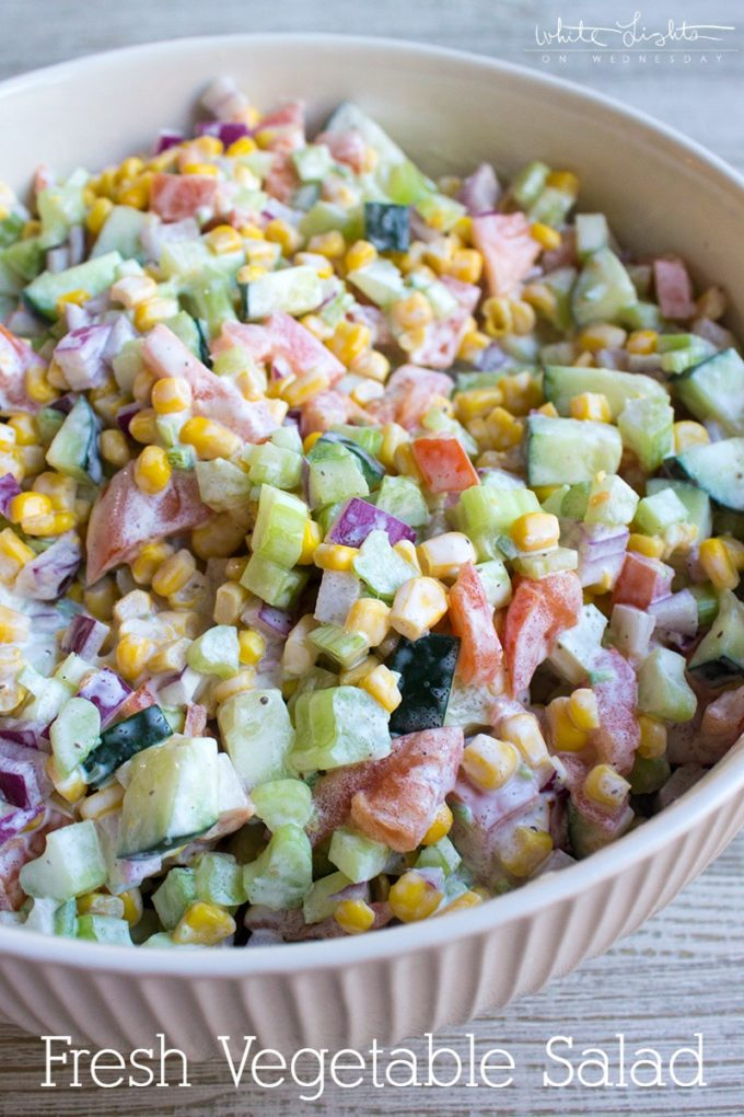 Fresh Vegetable Salad - The Best Summer Salad Recipes!