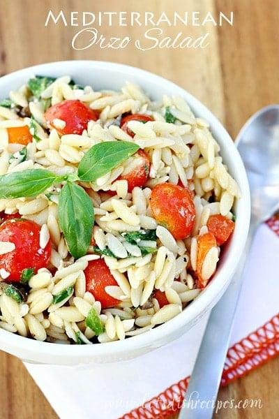 Mediterranean Orzo Salad - The Best Summer Salad Recipes!