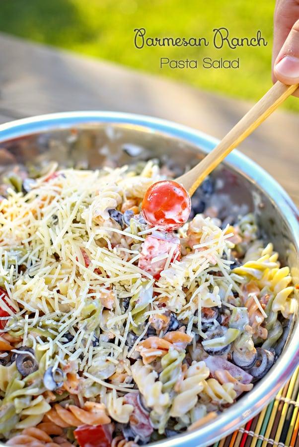 Parmesan Ranch Pasta Salad- The Best Summer Salad Recipes!