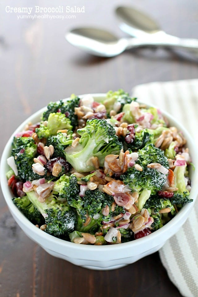 Creamy Broccoli Salad Recipe Yummy Healthy Easy