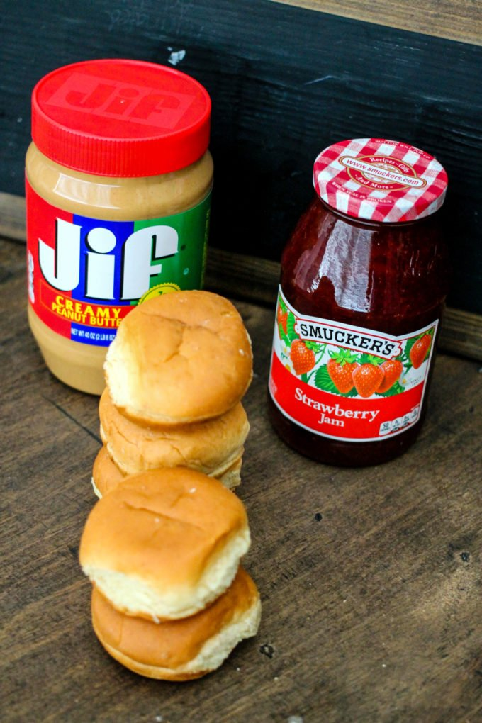 Peanut Butter & Jelly Sliders are the perfect switch up on the traditional sandwich. The kids will LOVE them!