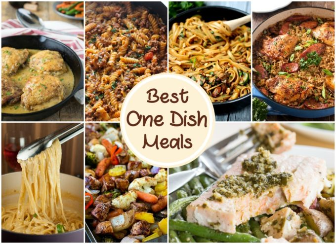 Rounding up over 15 of the Best One Dish Meals makes dinner time easy for you! These recipes are easy, delicious, and don't make a big mess!