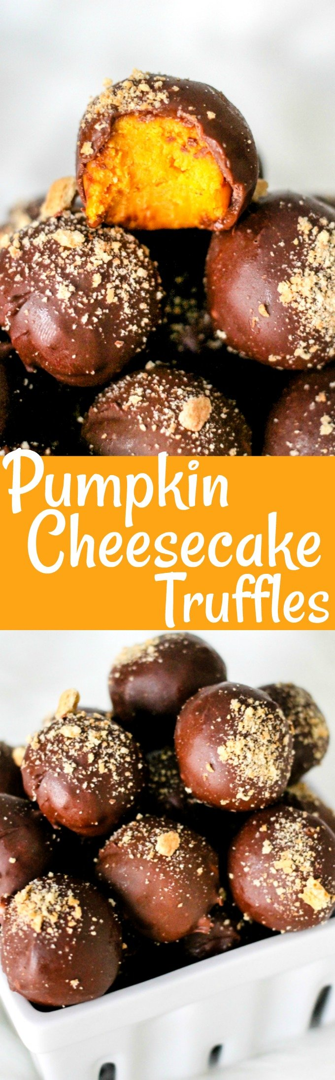 Chocolate Covered Pumpkin Cheesecake Truffles are a super delicious dessert that are perfect for fall and the holidays! You have to try these!