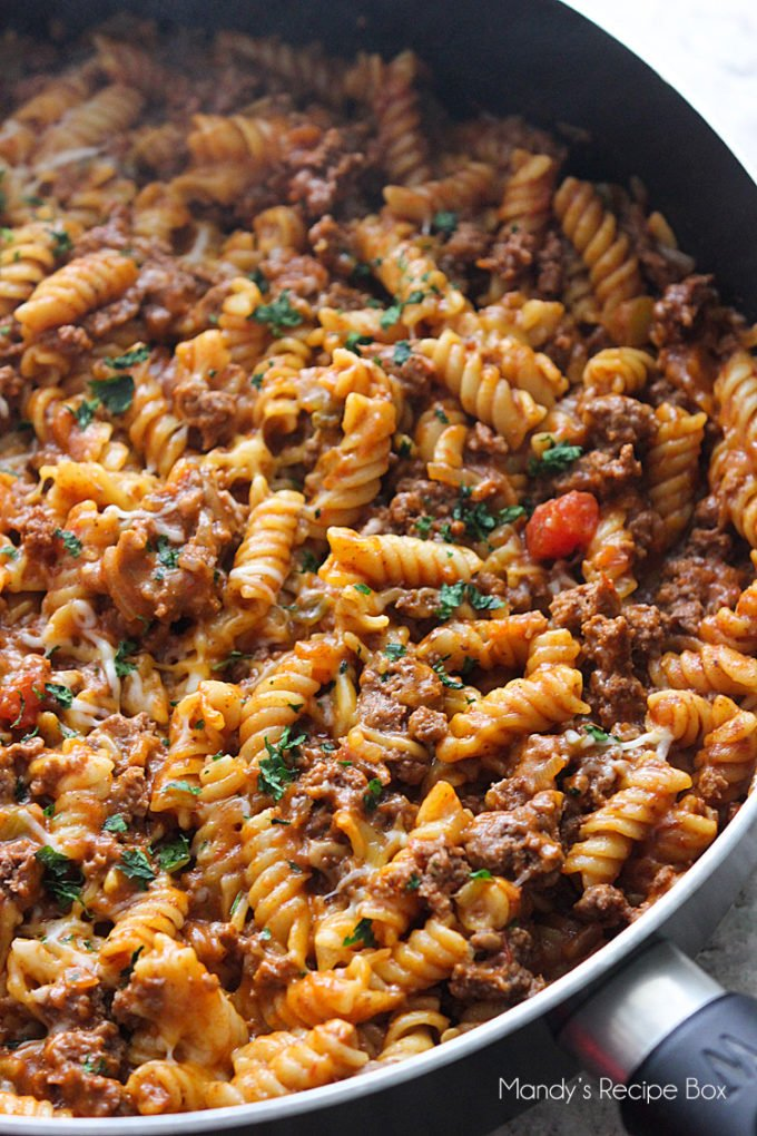 Taco Pasta - 13+ Best Ever One Pan Meals!