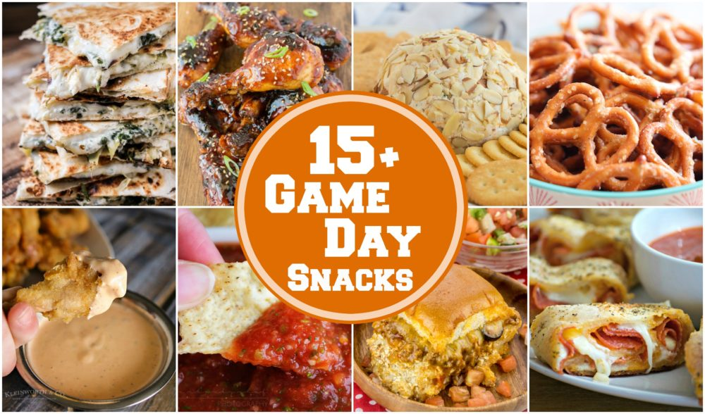 Over 15 of the best game day snacks to keep you full during those stressful games! Everything from wings to cheese dip, there's something for everyone!