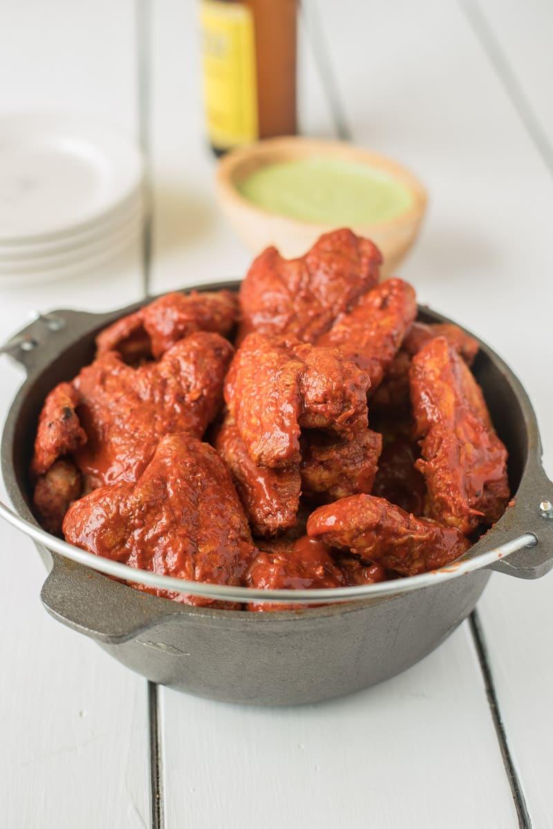 Baked Adobo Chicken Wings - 15+ Game Day Snacks @ yummyhealthyeasy.com