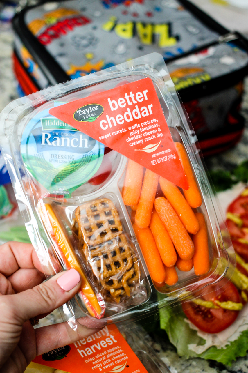 Packing school lunches for school has never been so easy! Thanks to Taylor Farms Snack Trays, I feel good about my kid's balanced meals!