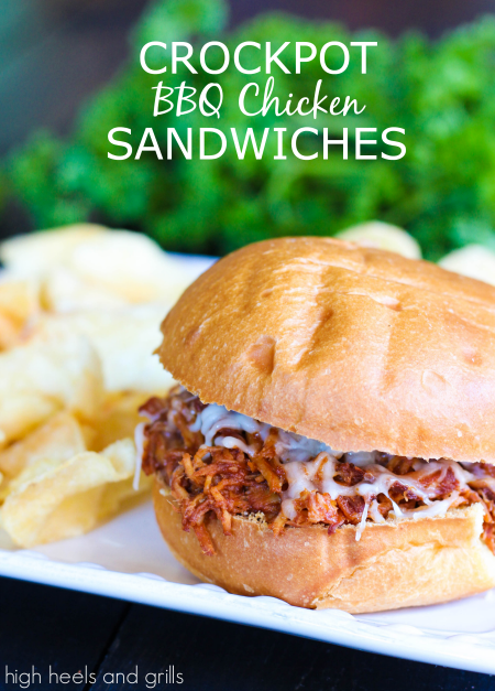 Crock Pot BBQ Chicken Sandwiches - 15+ Fall Slow Cooker Recipes!