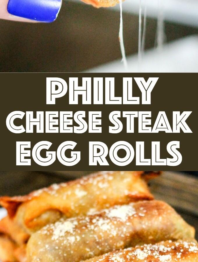 Philly Cheese Steak Egg Rolls