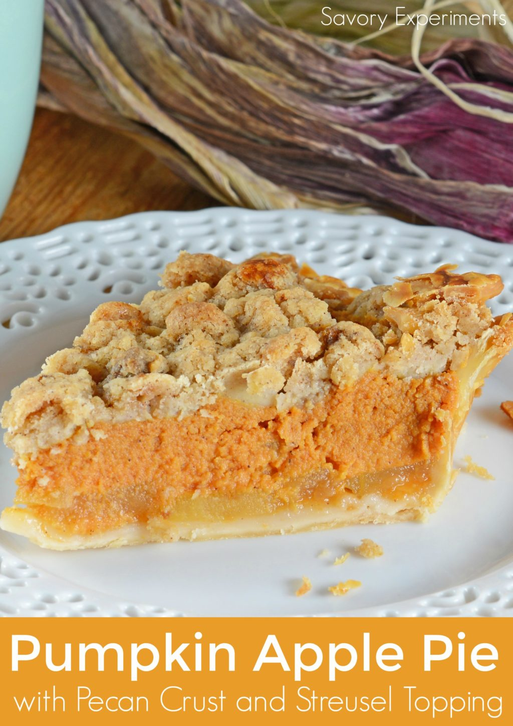 Pumpkin Apple Pie - 15+ of the Best Thanksgiving Desserts!