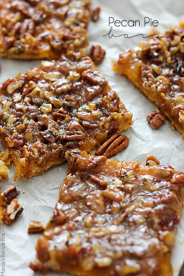Pecan Pie Bars - 15+ of the Best Thanksgiving Desserts!