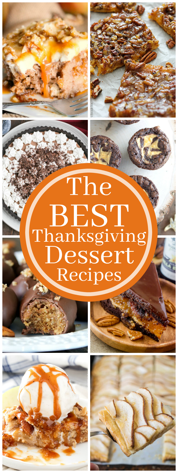 Over 15 of The Best Thanksgiving Dessert Recipes can be found right here! Everything from pies, to tarts, to truffles! You are going to want to dig in!