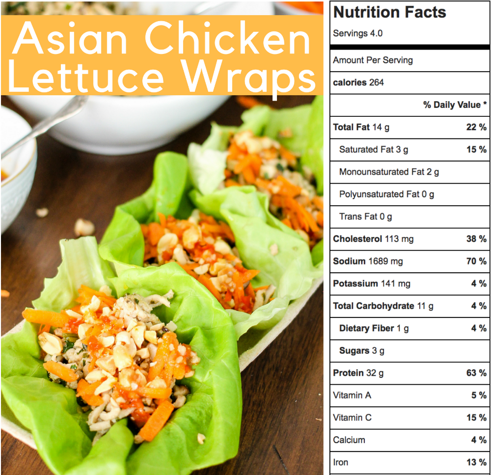 Asian Chicken Lettuce Wraps are super easy to make and taste better than the popular PF Chang's version. This healthy recipe (264 calories for THREE) packs all the flavor!