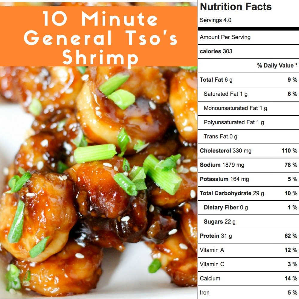 One Skillet General Tso's Shrimp takes only 10 minutes to cook and is majorly delicious! With under 300 calories per serving, it's the perfect healthy meal!