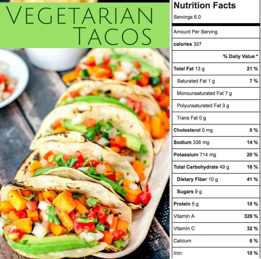 These vegetarian tacos are loaded with fresh sweet potatoes, jalapeno, pico de gallo, and avocado and then wrapped in a warm charred corn tortilla. These are the best vegetable tacos!